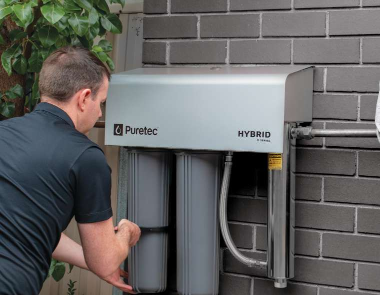 whole home water filers Puretec-G7-Filter-Change